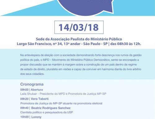 A função da representação feminina na Política será analisada em evento do MPD com apoio da APMP
