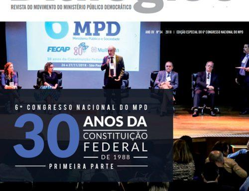 MPD Dialógico 54 – 6º Congresso Nacional do MPD: 30 anos da Constituição Federal de 1988 – Primeira parte