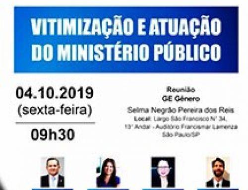 Palestra: Vitimização e Atuação do Ministério Público