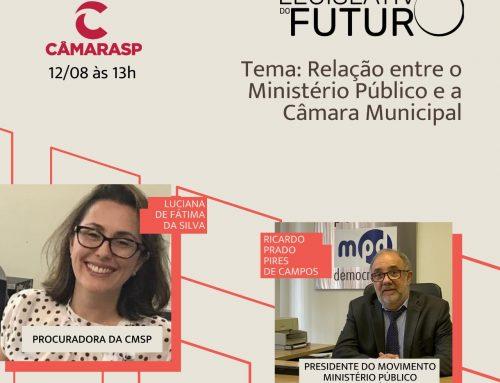 Clipping MPD – Programa Legislativo do Futuro, da TV Câmara de SP